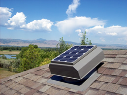 A solar attic fan, solar gable fan, or solar powered roof vent offers a great way to reduce energy consumption and save money on electric bills.